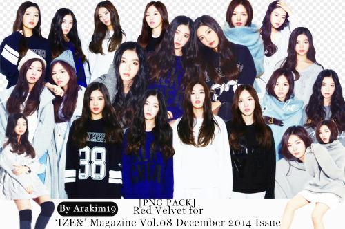 [PNG PACK] RED VELVET FOR ' IZE' Magazine by babyjung2