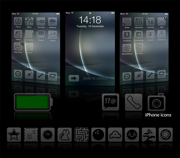 Glacies v1.1 - iPhone Theme
