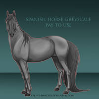 [retired] spanish horse greyscale. by are-we-dancers