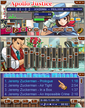 Apollo Justice - Ace Attorney Winamp Skin by luigihann