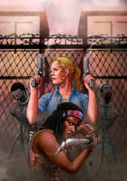 The Walking Dead's Andrea and Michonne by PeejayCatacutan