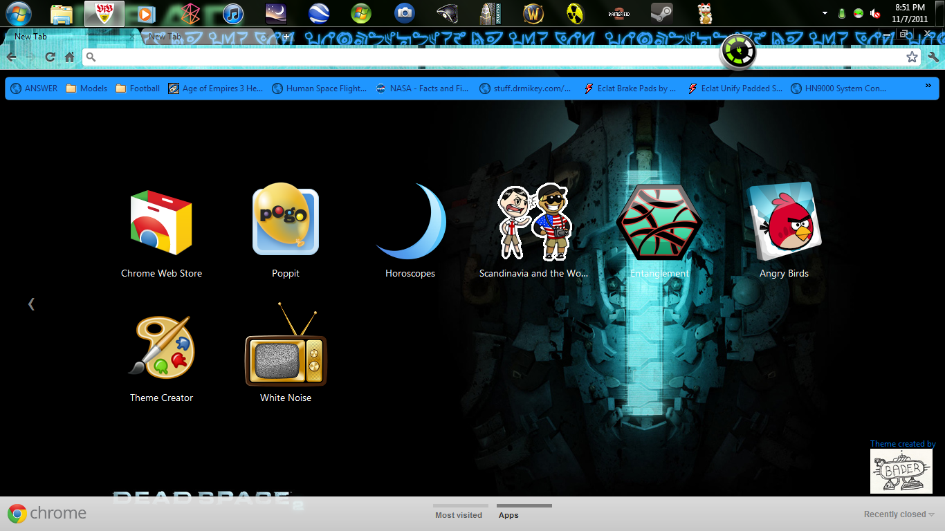 Dead Space 2 Theme For Google Chrome By Bader13