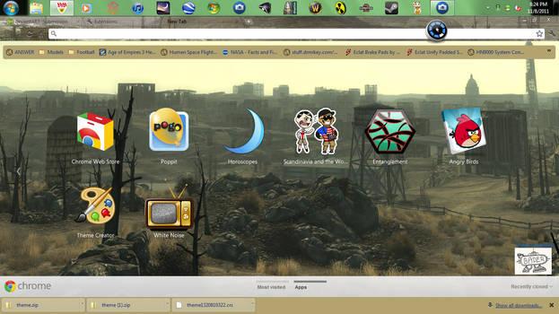 fallout 3 google chrome theme