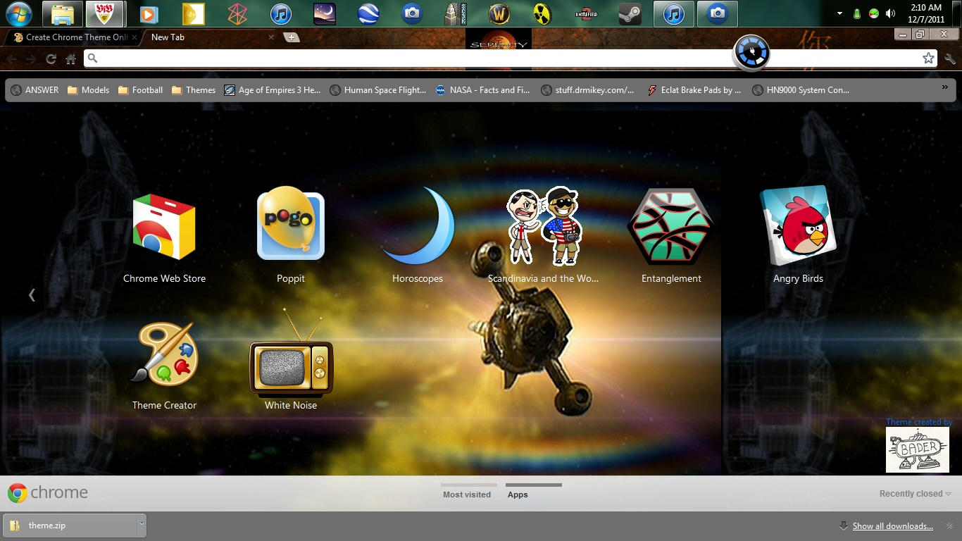 Google chrome themes video games -  Firefly Serenity Tv Series Google Chrome Wallpaper By Bader13