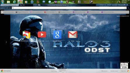 Halo 3 ODST chrome theme