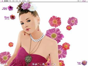 woman in flowers by waperock