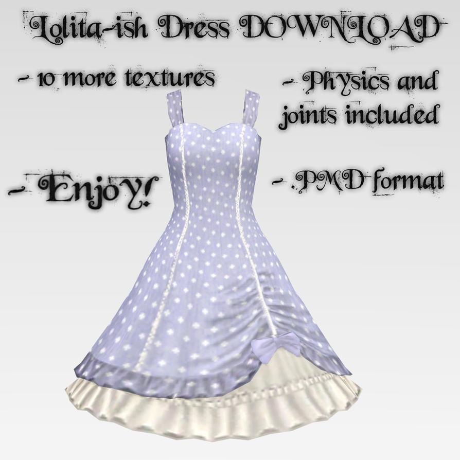 Lolita-ish Dress DOWNLOAD by Kohaku-Ume