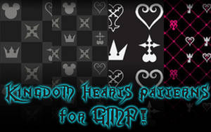 Kingdom Hearts GIMP Patterns DOWNLOAD by Reseliee