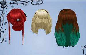 Sims 4 Female hair pack DOWNLOAD by Reseliee