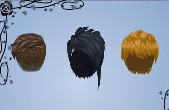 Sims 4 Male hair pack by Reseliee
