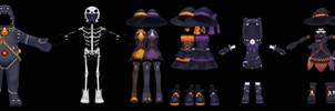 Rest of the Pangya Halloween Outfits (Unrigged) DL