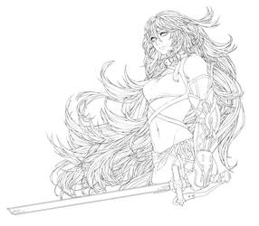 Maxwell Lineart TRANSPARENT DOWNLOAD by challele