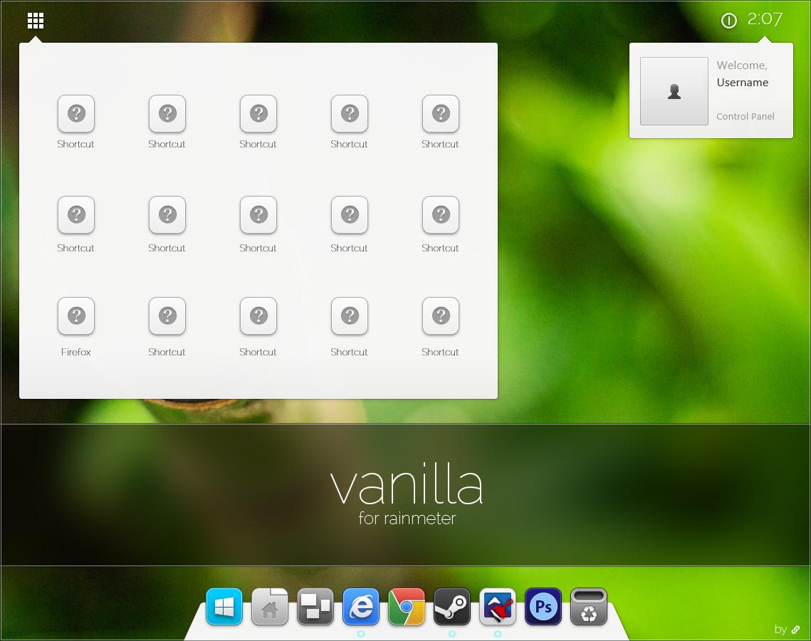 Vanilla for Rainmeter BETA by link6155