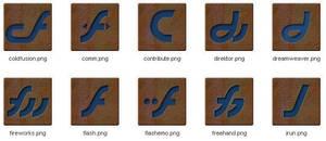 Rusty Macromedia PNGs by AMPhitheatre