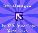 DDR Arrow Cursor Purple Edtion by KaldeaOrchid