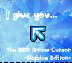 DDR Arrow Cursor Skyblue Edn by KaldeaOrchid