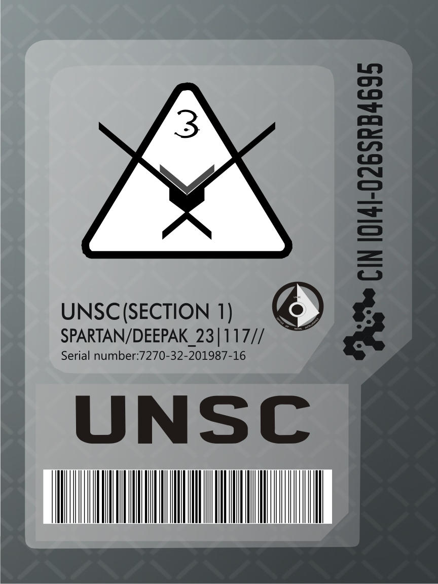 Unsc Id Card By Spartanwarlord On Deviantart