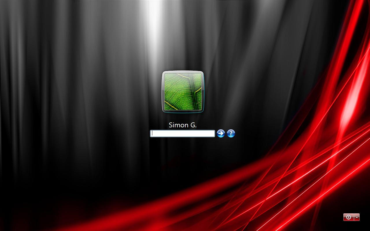 Red Vista Ultimate Logon by Gazz27
