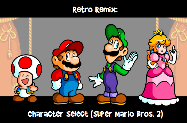RR: Character Select -Super Mario Bros  2- by JamesmanTheRegenold on