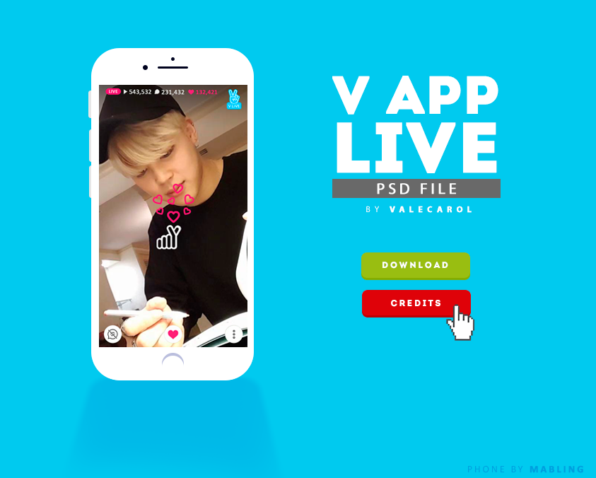 V LIVE APP  psd by valecarol on DeviantArt