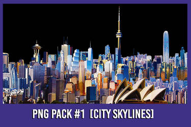 PNG Pack #1 [Skylines] by xForeverwitchy