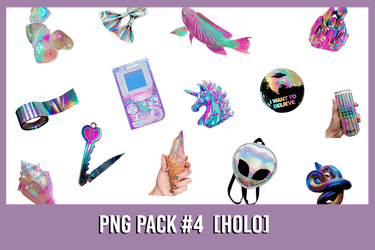 PNG Pack #4 [Holo ish]