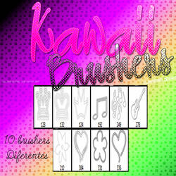 Brushes kawaii JulianneGrey