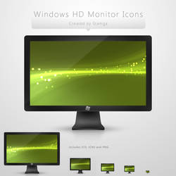 Windows HD Monitor Icon by Stamga