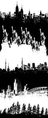 city skyline brushes