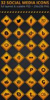 Road Signs Social Media Icons