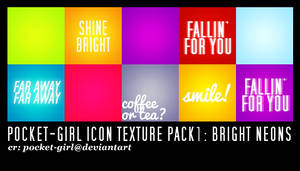 Pocket-Girl Icon Textures # 1 Bright Neons