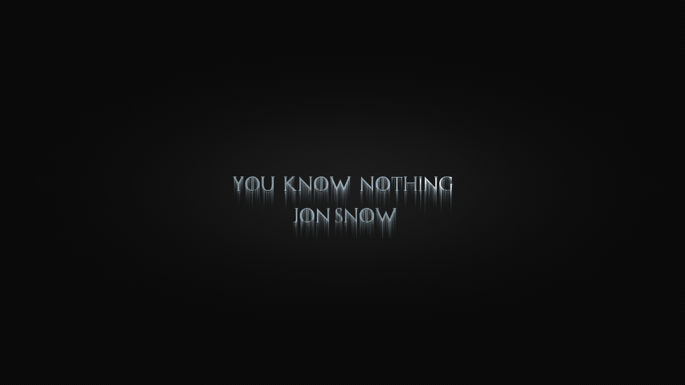 You Know Nothing Jon Snow By Laabiyad