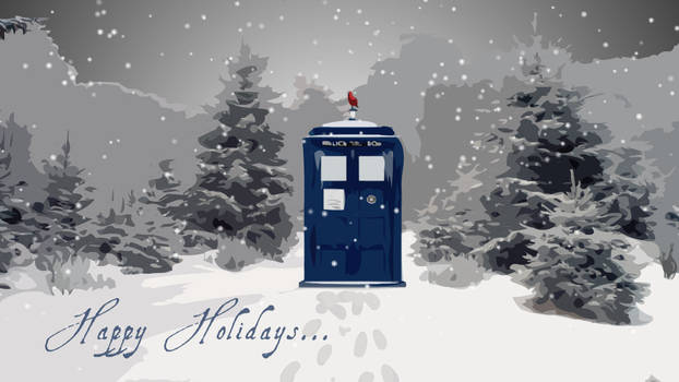 Happy Holidays Doctor Who E-Card