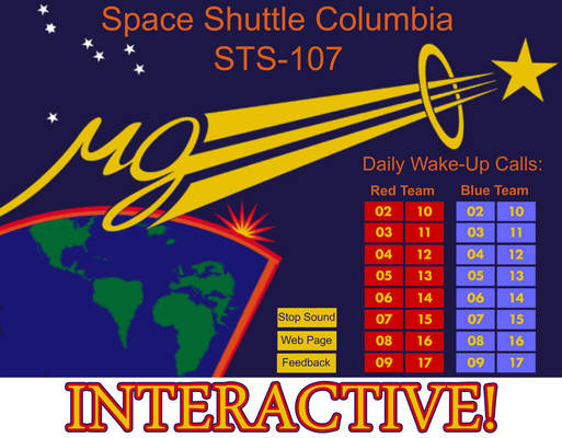 Shuttle Columbia STS 107: Interactive Wakeup Calls