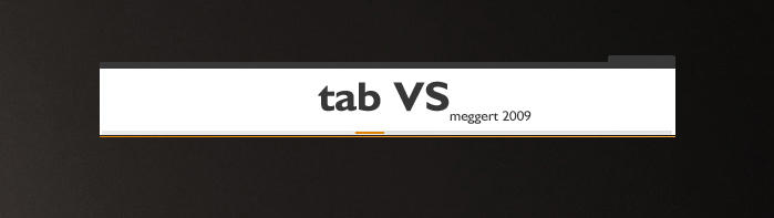 t a b VS by meggert