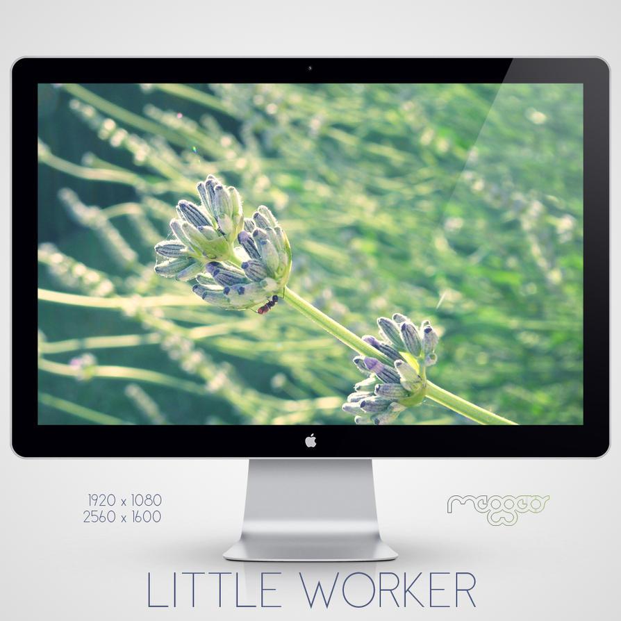 little worker wallpaper by meggert