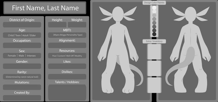 Tarael Profile Template [AI / PSD / PNG]