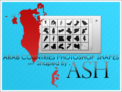 Arab Countries Shapes by iAiisha