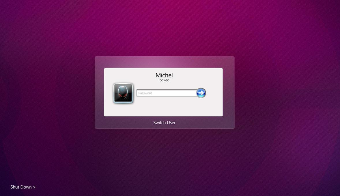 Windows 7 Logon - Aurora Style by mvgraphics
