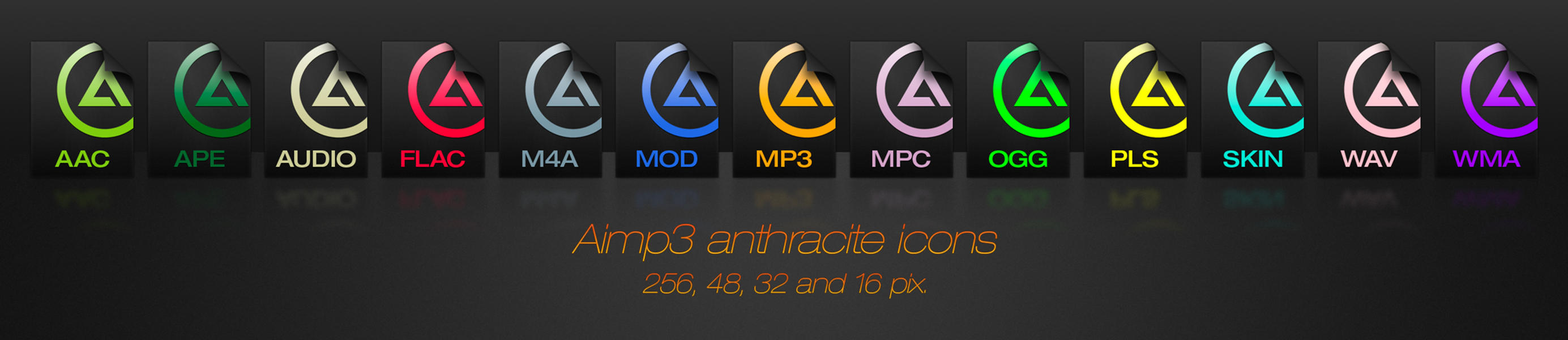 Aimp 3 anthracite icons by aablab