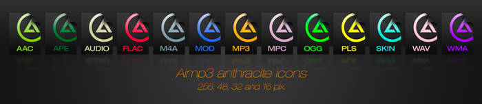 Aimp 3 anthracite icons
