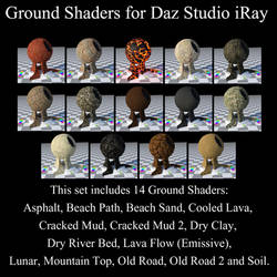 Ground Shaders for Daz Studio iRay by BohemianHarlot
