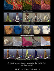 Textile Shaders for Daz Studio iRay Everyday Pt. 2 by BohemianHarlot