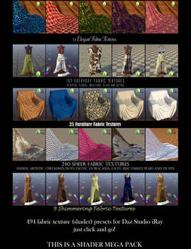Textile Shaders for Daz Studio iRay Textiles Pt. 3