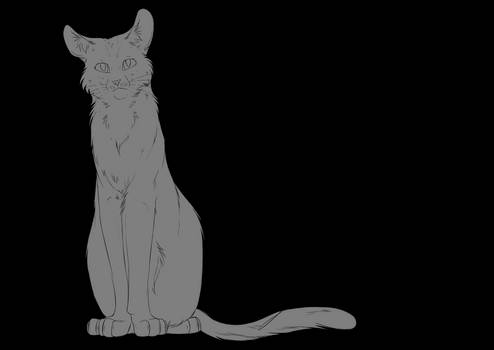 Free Cat Lineart #2