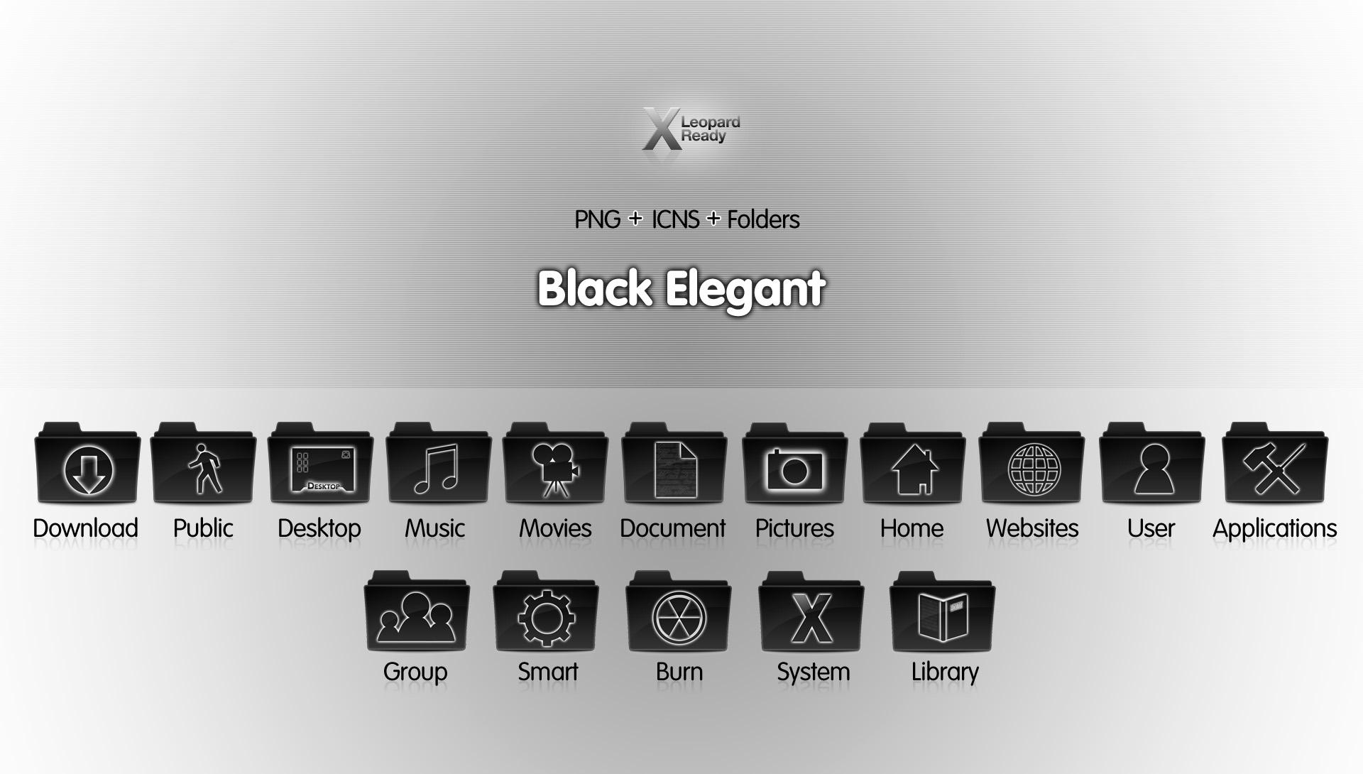 Black Elegant - Icon Set