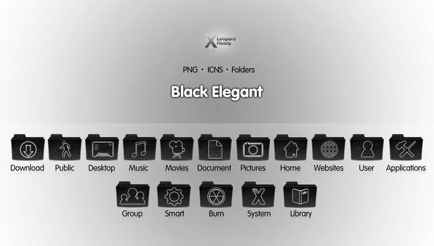 Black Elegant - Icon Set
