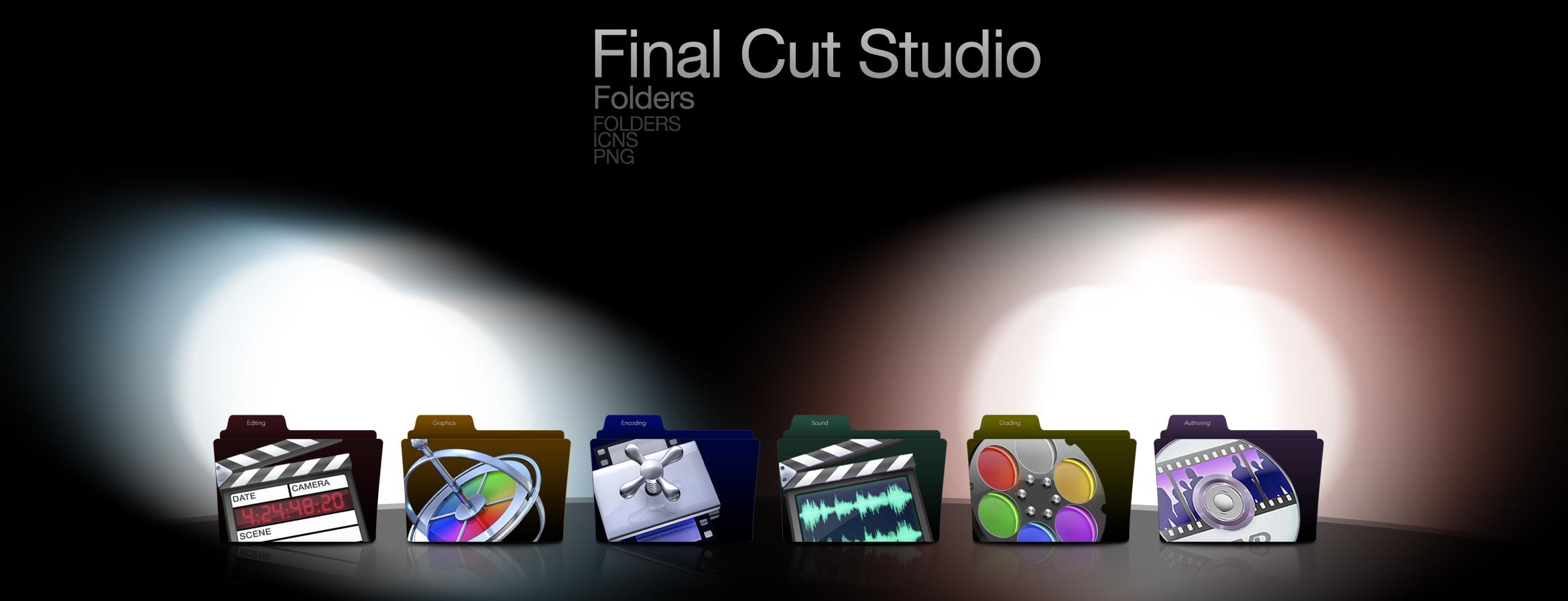 Final Cut Studio Folders Set by wurstgott on DeviantArt