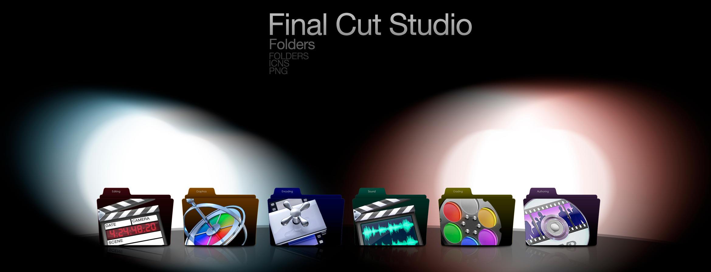 Final Cut Studio Folders Set by wurstgott