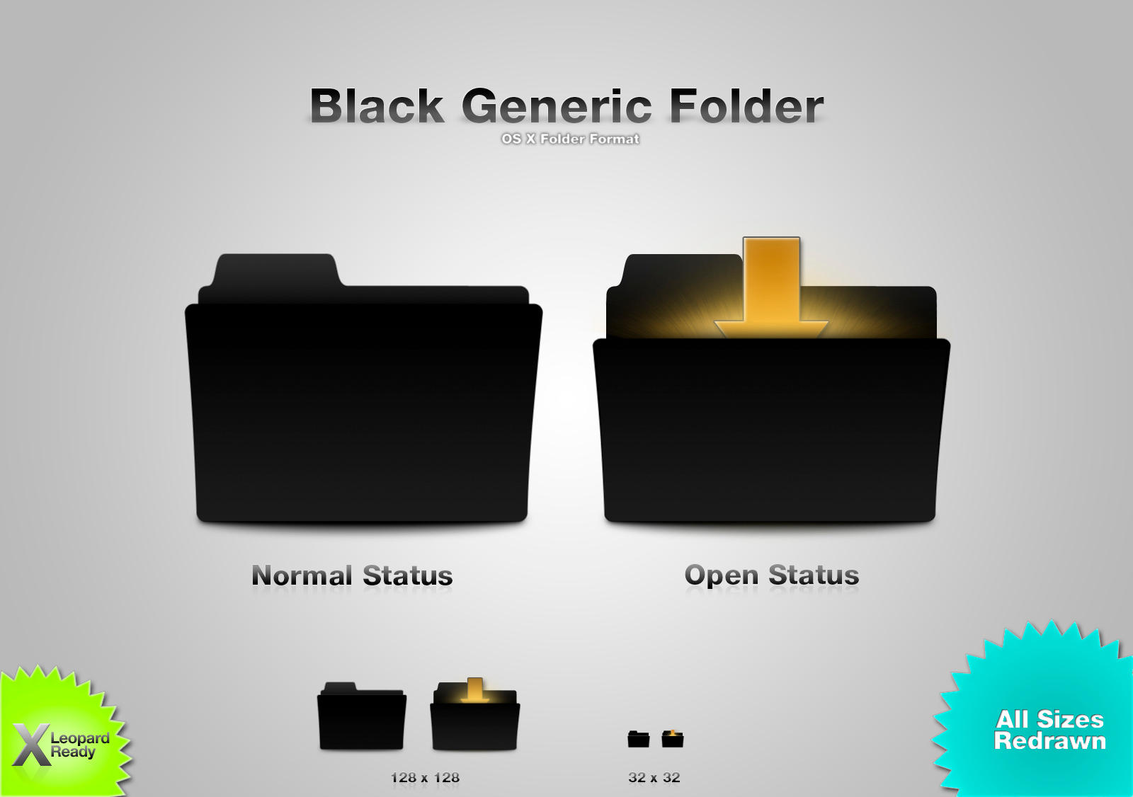 Black Generic Folder by wurstgott